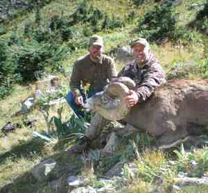 Denis Denardo with his 168 3/8 Ram